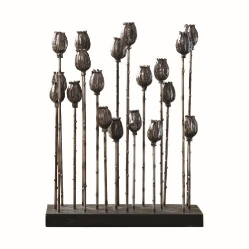Poppy Pod Sculpture Multi-Iron