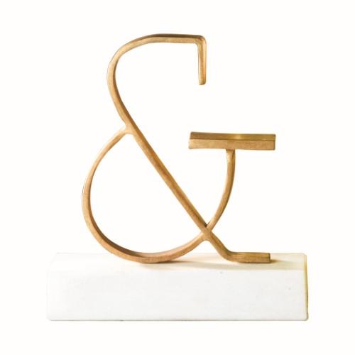 Ampersand Objet-Gold