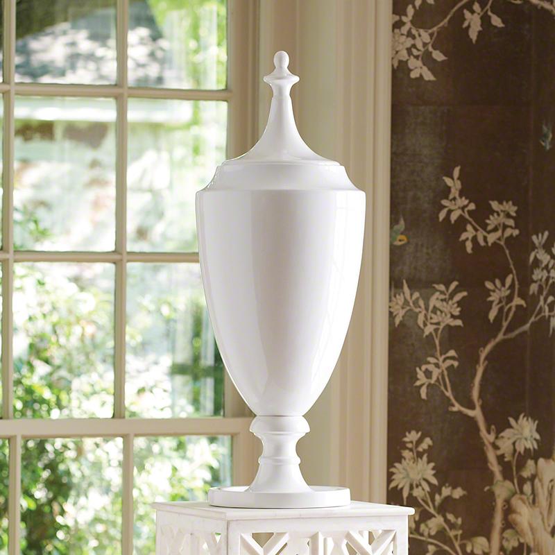 Global Views Products Grande Urn Wlid White