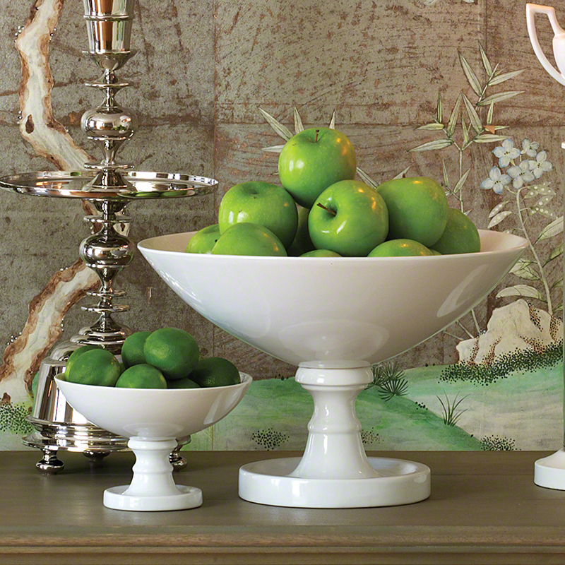 White Grand Pedestal Bowl