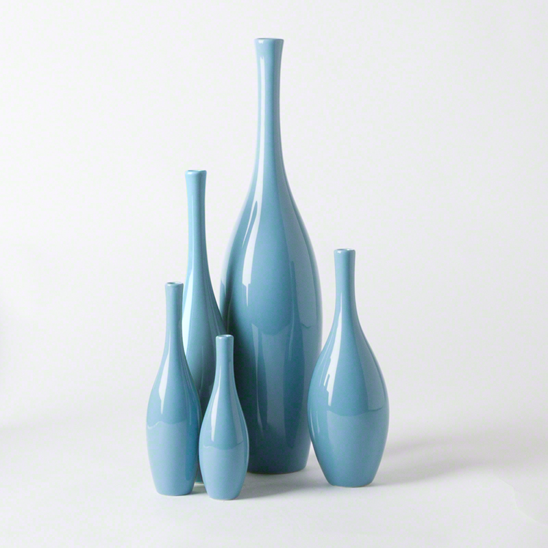 Global Views Products Juggler Vase French Blue Closeup