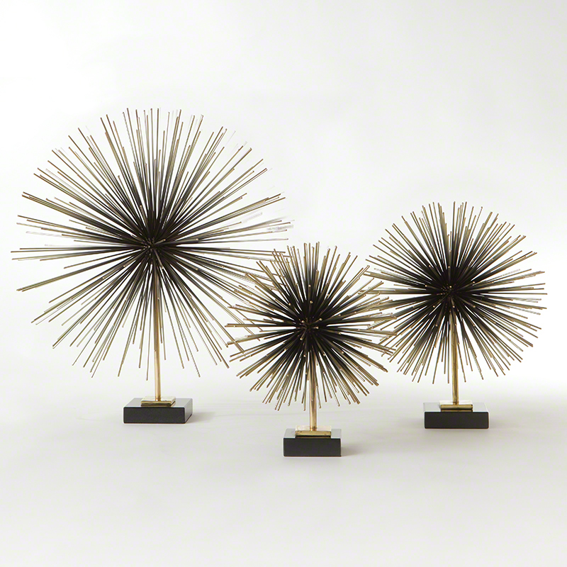 Boom Tabletop Sculpture-Brass