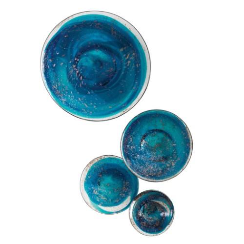 S/4 Glass Wall Mushrooms-Blue