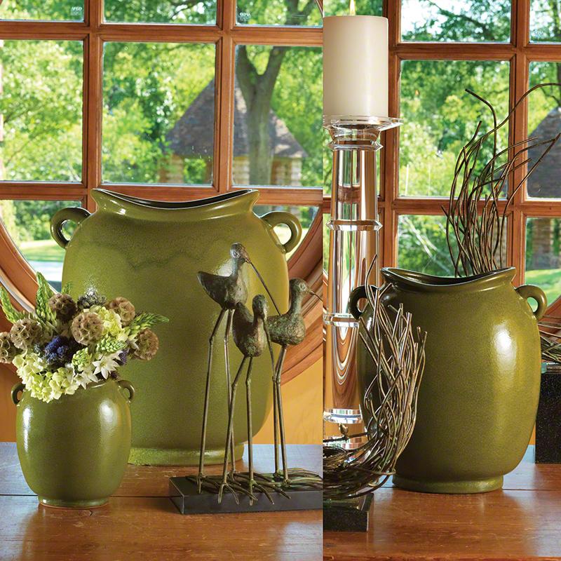 Global Views Products Pocket Vase Green