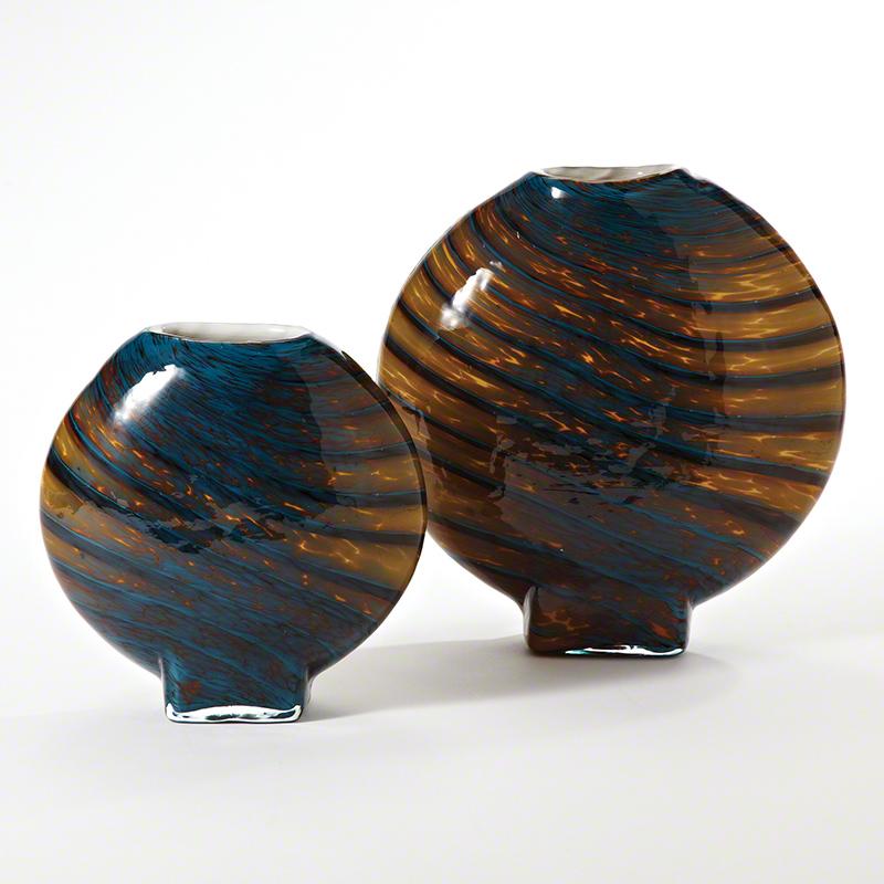 Cobalt Gold Swirl Vase