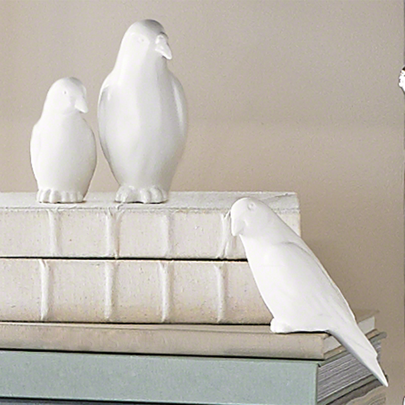 Book Bird-Matte White