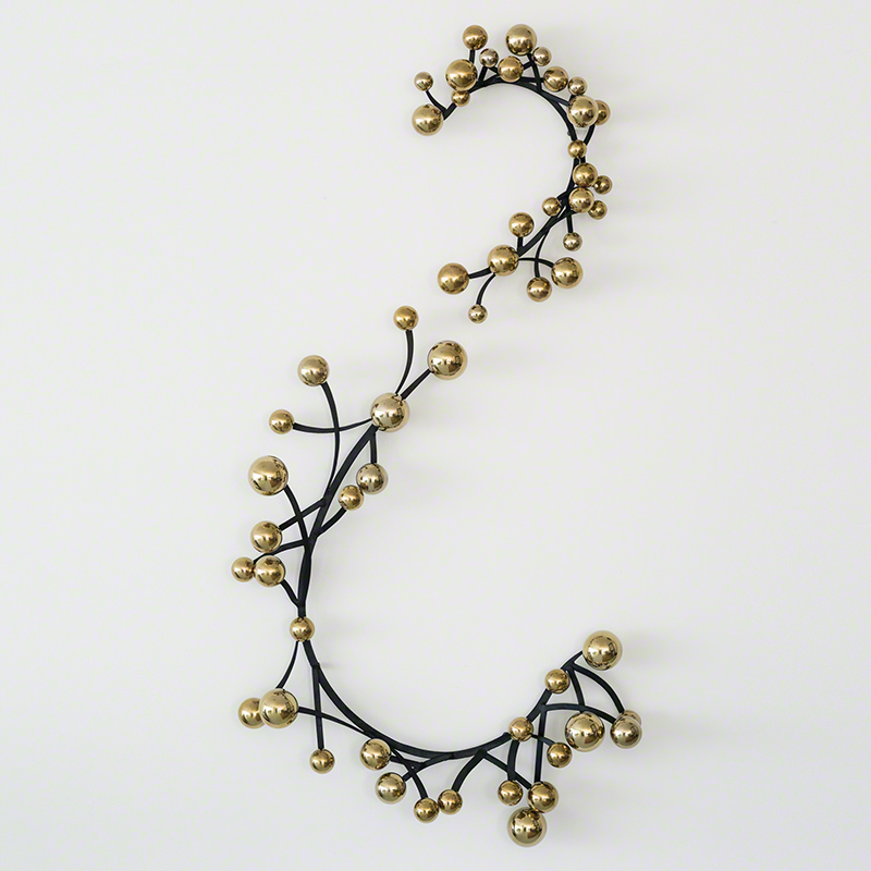 Currants Wall Panel-Brass