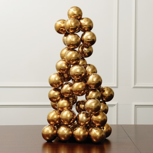 Sphere Sculpture-Brass