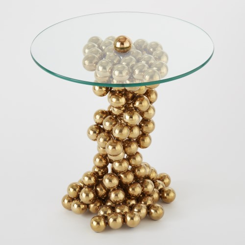 Sphere Table-Brass