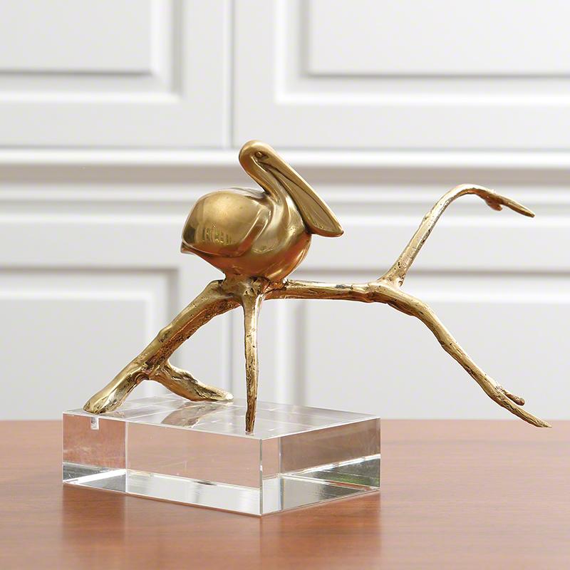 Pelican-Brass/Crystal