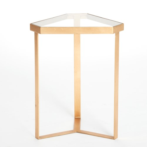 Tri-Hex Table-Gold Leaf