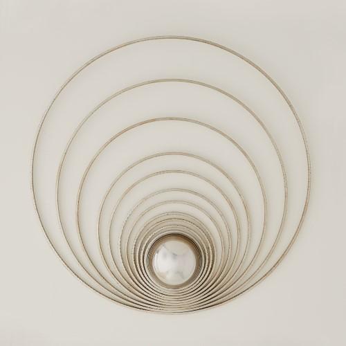 Radial Sphere Panel-Silver Leaf