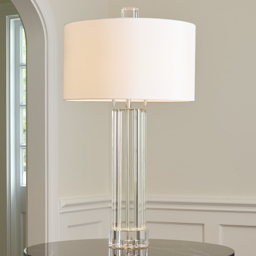 Fluted Crystal Column Table Lamp