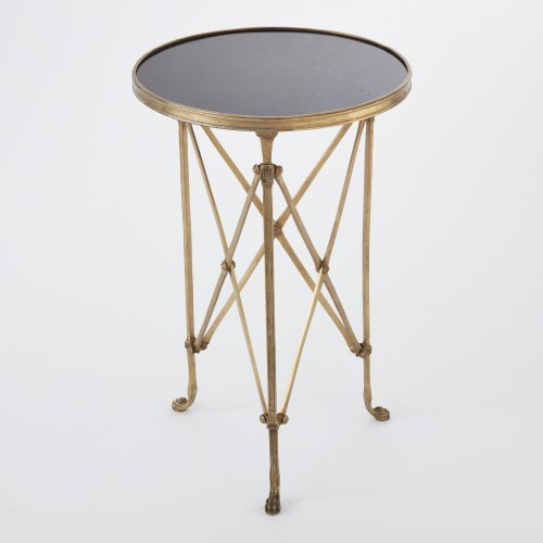 Directoire Table-Brass w/Black Granite Top