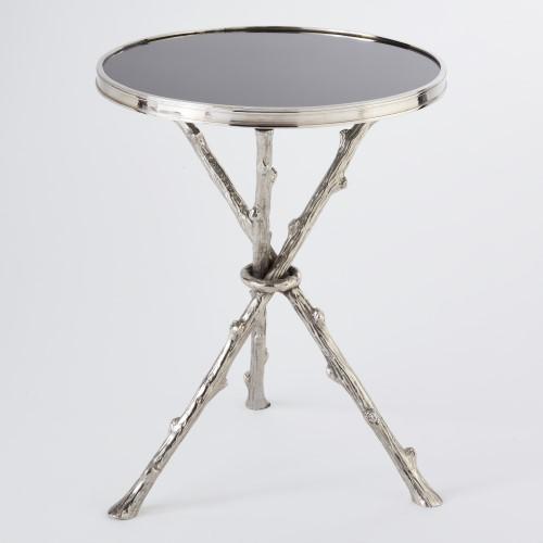 Twig Table-Nickel w/Black Granite Top