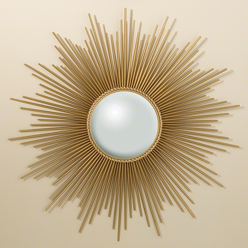 Sunburst Mirror-Gold