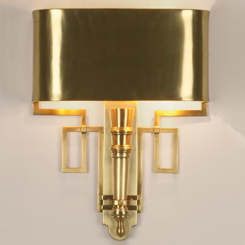 Torch Sconce w/Shade-Antique Brass