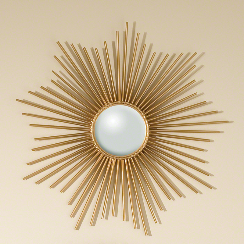Mini Sunburst Mirror-Gold