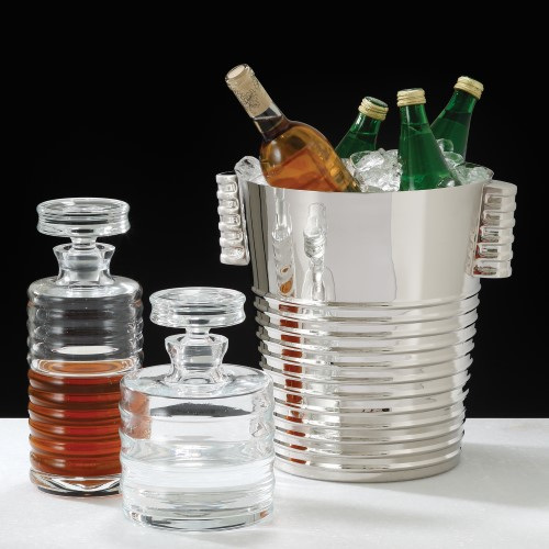 Ribbed Ice Bucket-Nickel