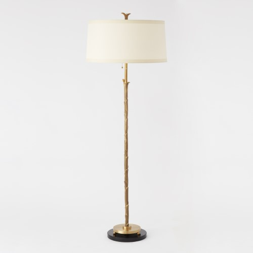 Organic Floor Lamp-Antique Brass Finish