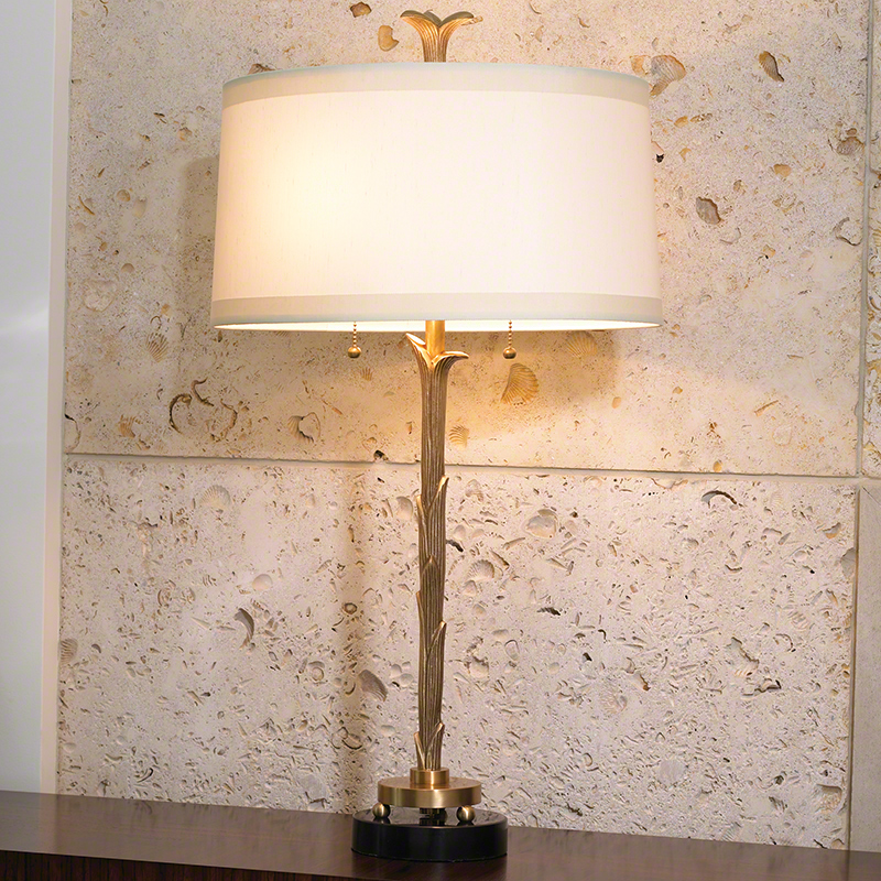 Organic Table Lamp-Antique Brass Finish