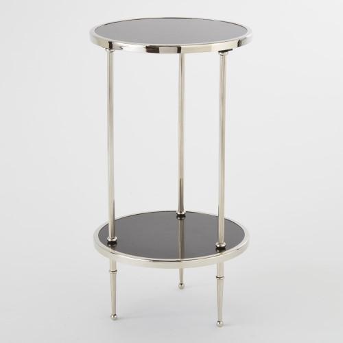 Petite 2 Tiered Table-Nickel