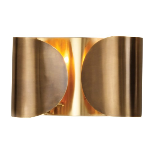 Hardwired Folded Sconce-Antique Brass/Brass