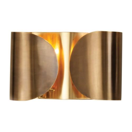 Hardwired Folded Sconce-Antique Brass/Brass