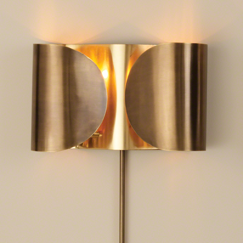 Global Views Products Folded Sconce Antique Brassbrass