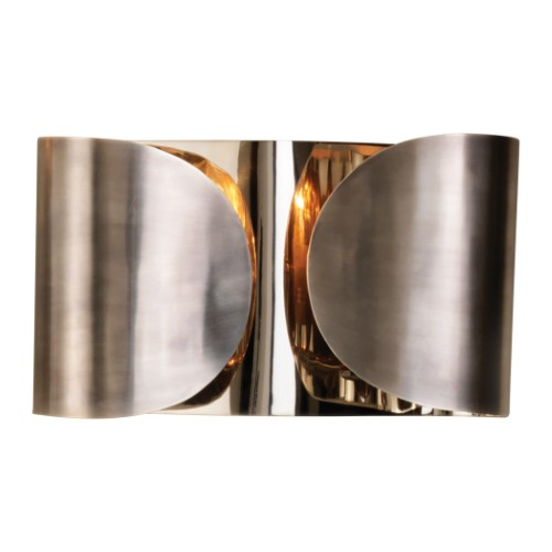 Hardwired Folded Sconce-Antique Silver/Nickel