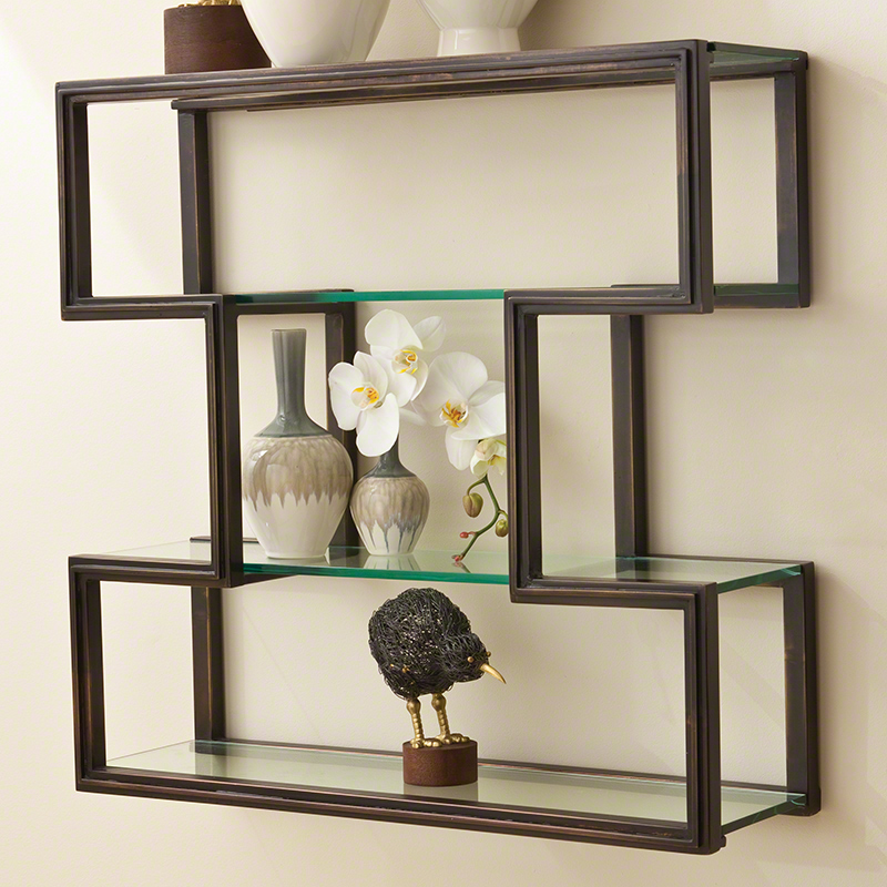 GLOBAL VIEWS | products | One Up Wall Shelf-Bronze Finish
