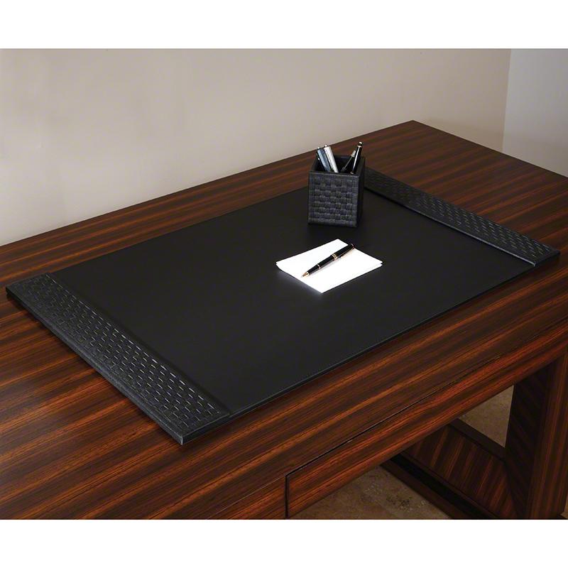 Woven Desk Blotter-Black