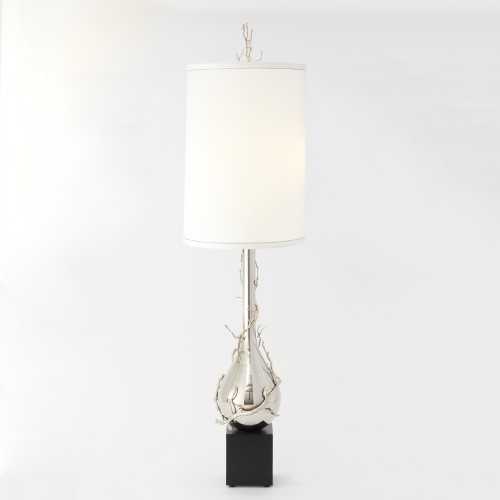 Twig Bulb Floor Lamp-Nickel