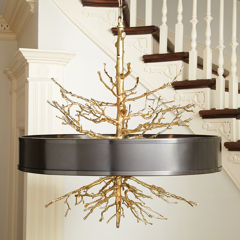 Global views products twig pendant brass on brass wbronze shade 991799 aloadofball Image collections