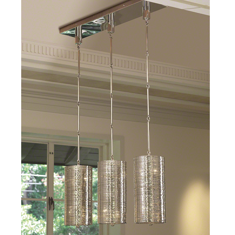 Coil 3 Light Pendant-Polished Nickel