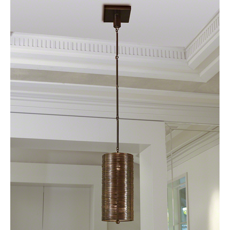 Coil Single Pendant-Bronze Finish