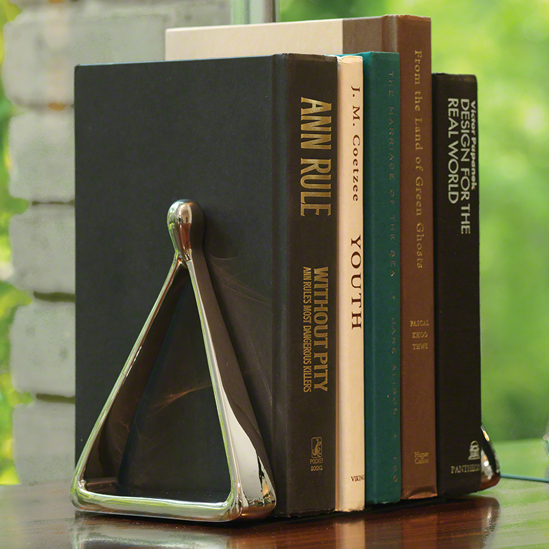 Stirrup Bookends-Nickel