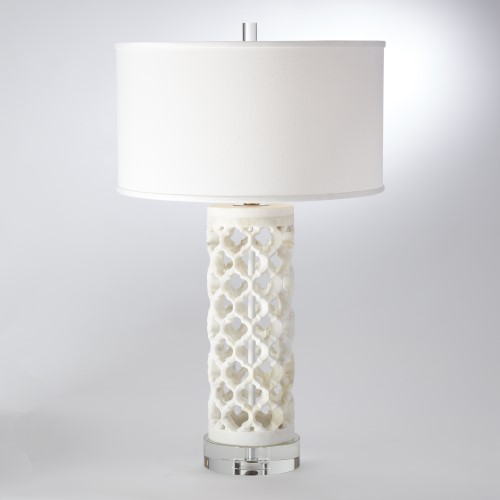 Round Arabesque Marble Lamp