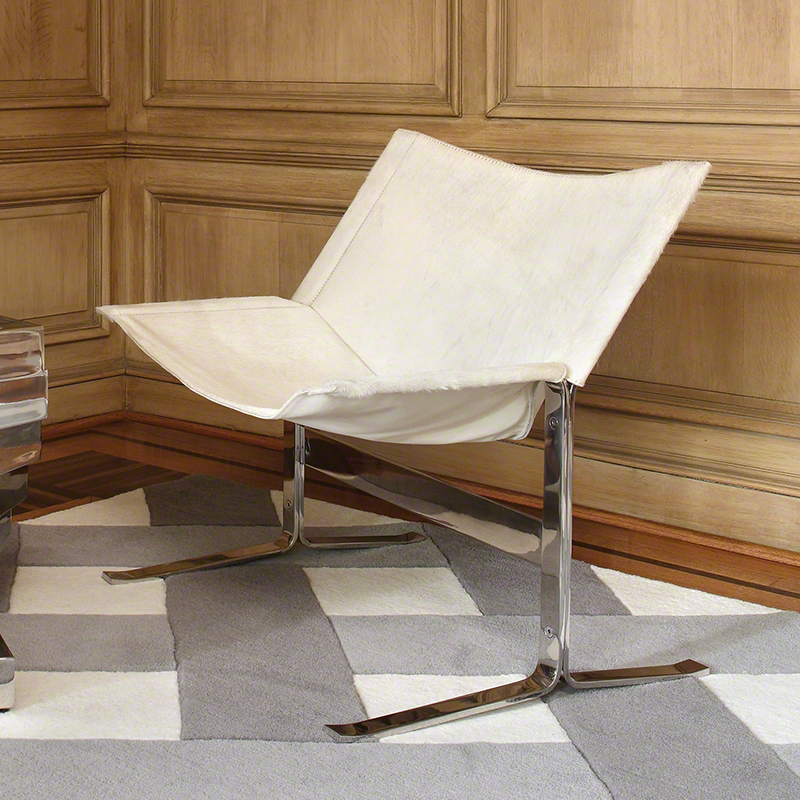 Cantilever Chair-Hair On-White