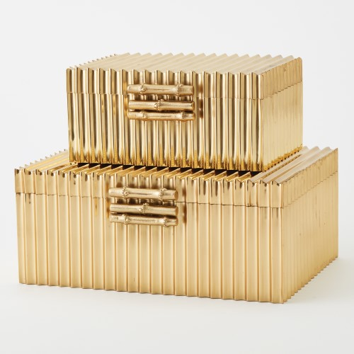 Corrugated Bamboo Box-Brass
