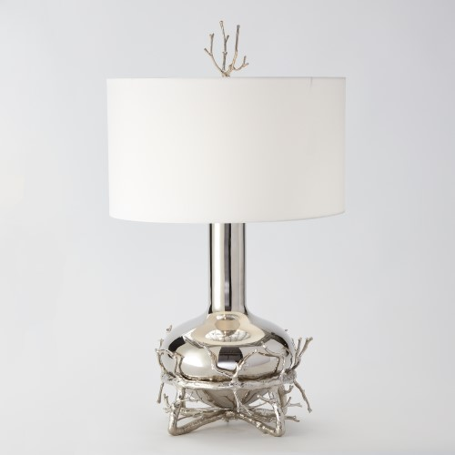 Fat Nickel Twig Table Lamp