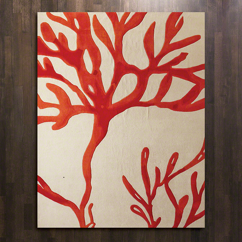 Coral Rug Red