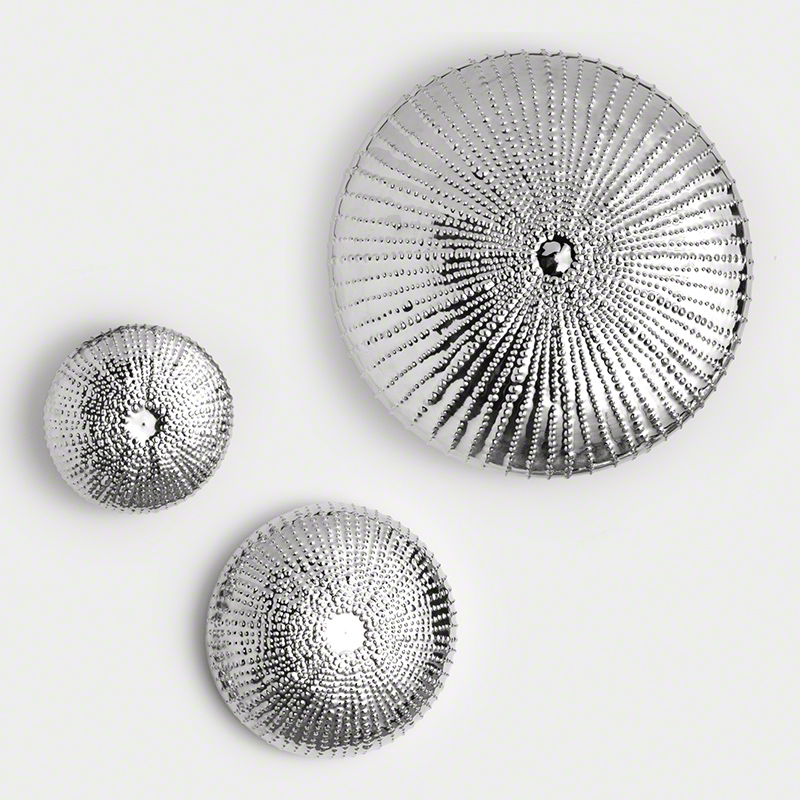 Sea Urchin Wall Sculpture-Nickel