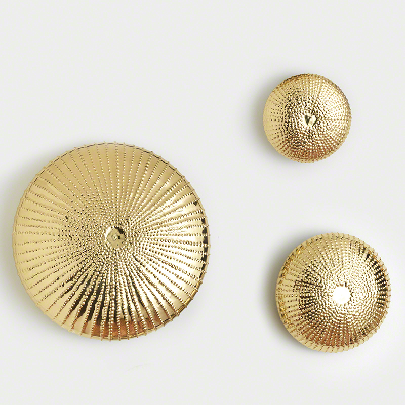 GLOBAL VIEWS | products | Sea Urchin Wall Sculpture-Gold