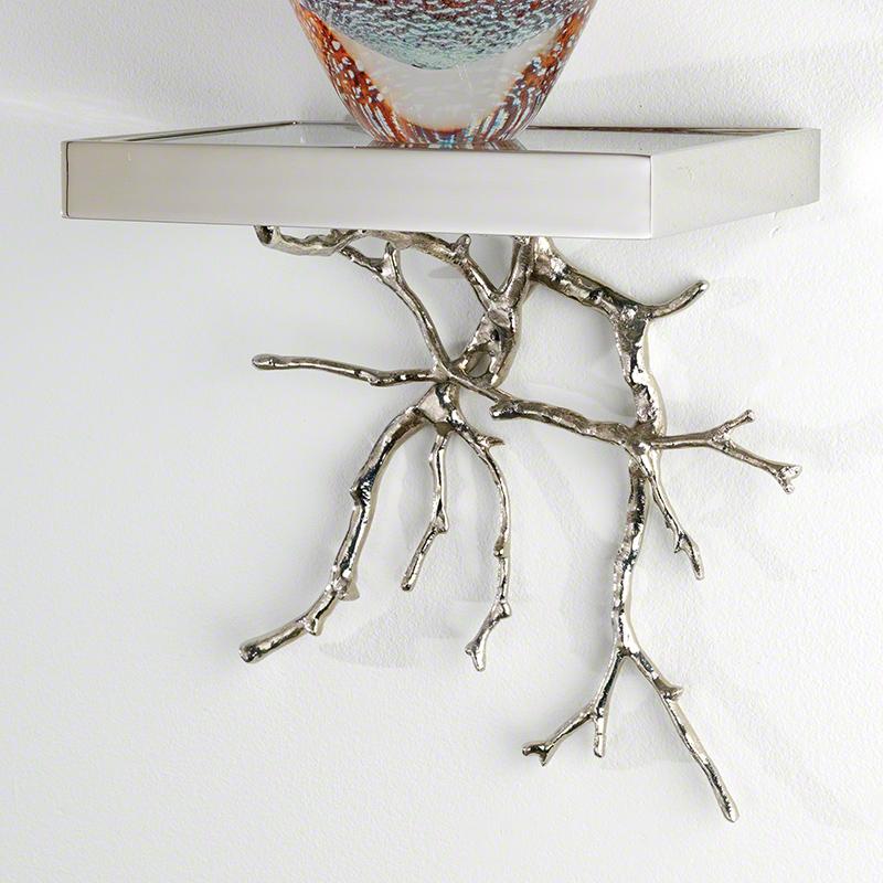 Twig Wall Bracket-Nickel