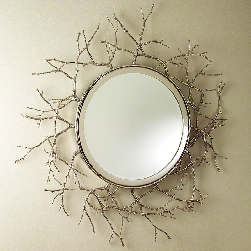 Twig Mirror-Nickel