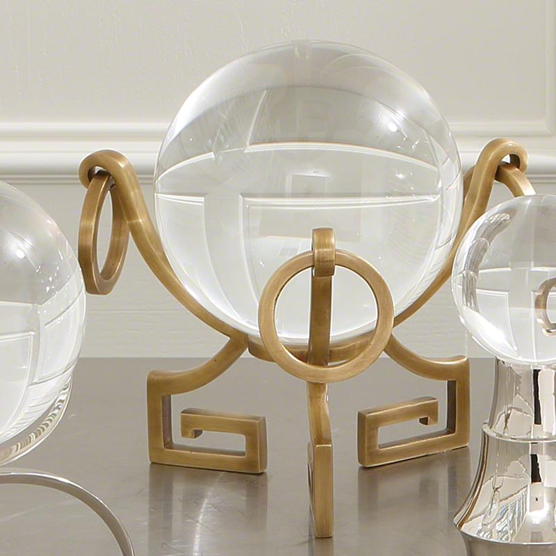Greek Key Stand-Brass