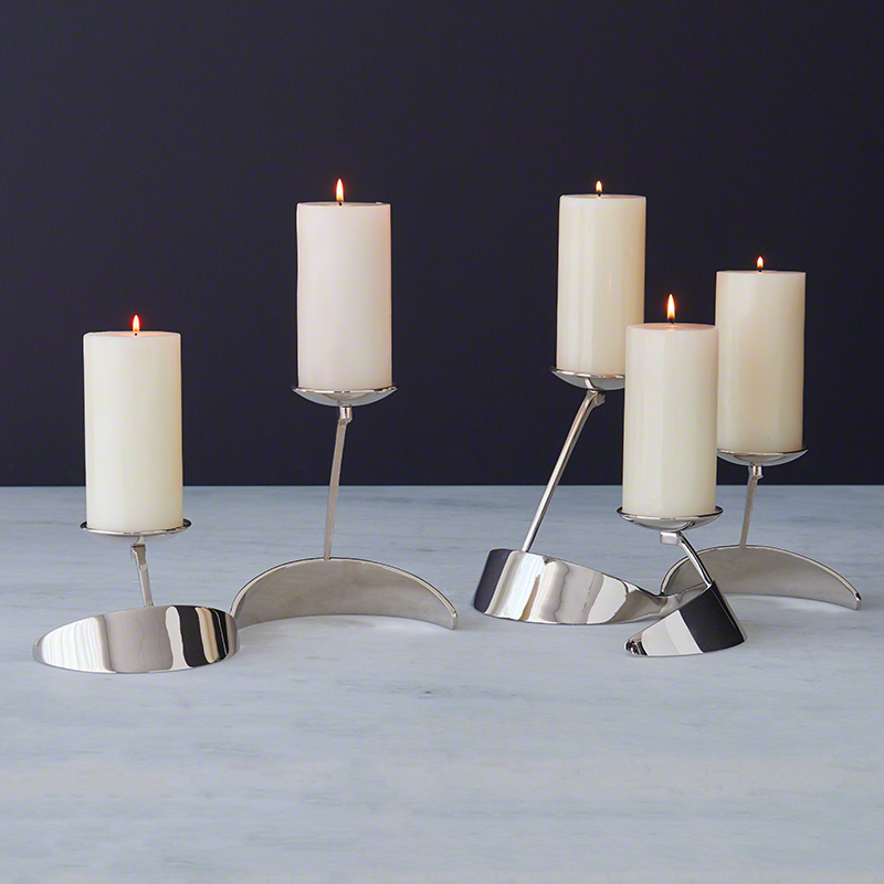 Pinwheel Candle Holder-Nickel