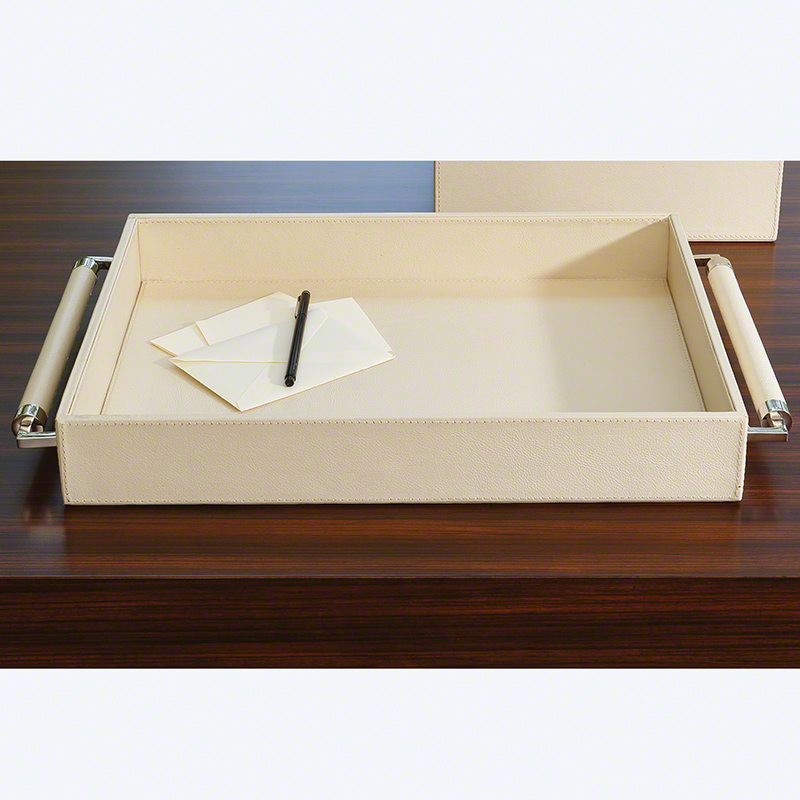 Double Handle Serving Tray-Ivory