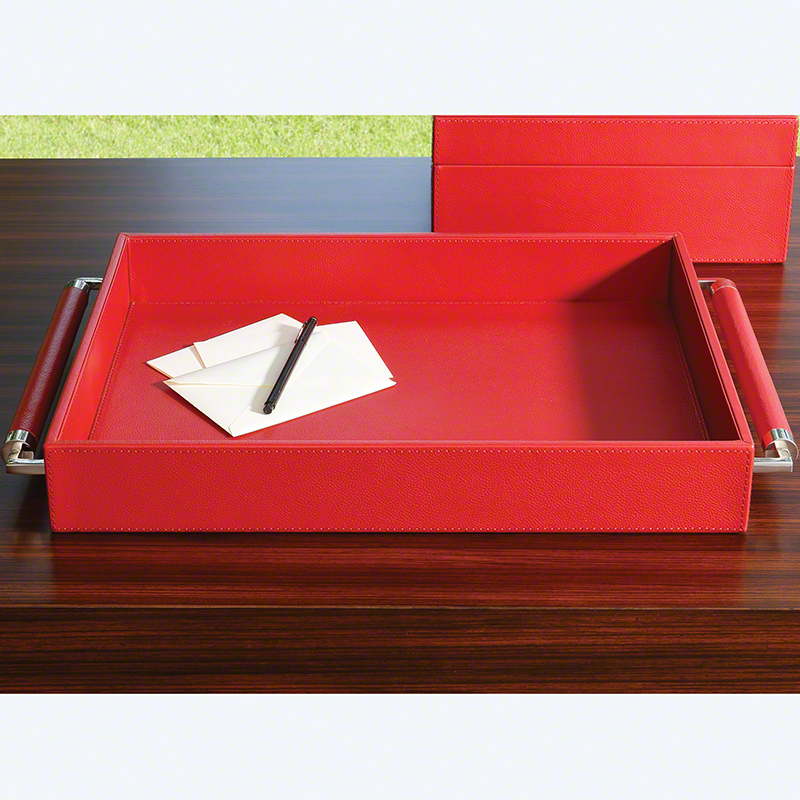 Double Handle Serving Tray-Crimson